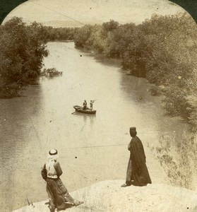 Jordan Moab Jordan River Hunter Promised Land Old Photo Stereoview 1900