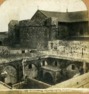 Palestine West Bank Bethlehem Church of the Nativity Block Stereoview Photo 1900