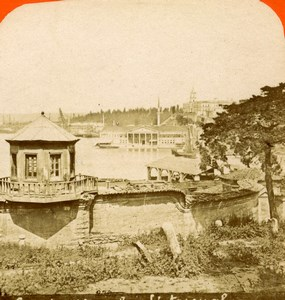Turkey Constantinople the Arsenal Old Photo Stereoview 1880