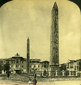 Turkey Constantinople Obelisks in the Hippodrome H.C White Photo Stereoview 1901
