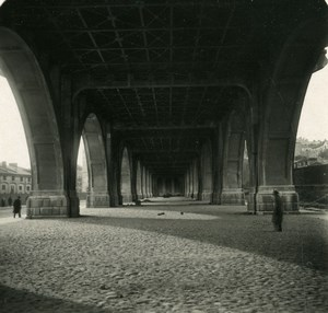 Poland Warsaw Warszawa Viaduct on Vistula River Old Stereoview Photo NPG 1905