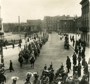 Poland Warsaw Warszawa Saxon Square Military Parade Stereoview Photo NPG 1905