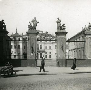 Poland Warsaw Warszawa Bruhl Palace Old Stereoview Photo NPG 1905