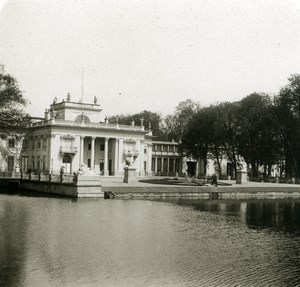 Poland Warsaw Warszawa Lazienki Palace Old Stereoview Photo NPG 1905