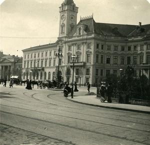 Poland Warsaw Warszawa City Hall Old Stereoview Photo NPG 1905
