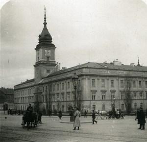 Poland Warsaw Warszawa Royal Palace Old Stereoview Photo NPG 1905