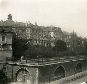 Poland Warsaw Warszawa Terrace of Palace Old Stereoview Photo NPG 1905