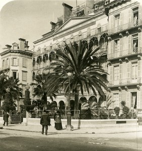France Nice Hotel et Promenade des Anglais Ancienne Photo Stereo NPG 1905