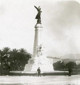 France Nice Monument du Centenaire André Allar Ancienne Photo Stereo NPG 1905