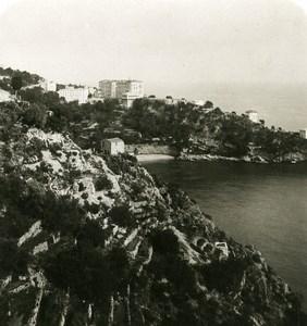 France Monte Carlo Road Monaco to la Turbie Old Stereo Photo NPG 1905
