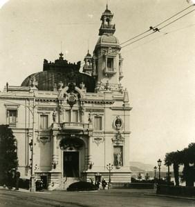 France Monte Carlo Casino Theatre Entrance Old Stereo Photo NPG 1905