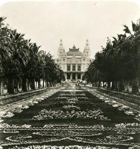 France Monte Carlo Avenue des Palmiers & Casino Old Stereo Photo NPG 1905