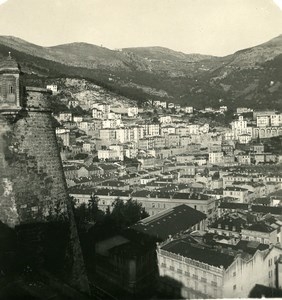 France Monaco Panorama from the Castle Old Stereo Photo NPG 1905