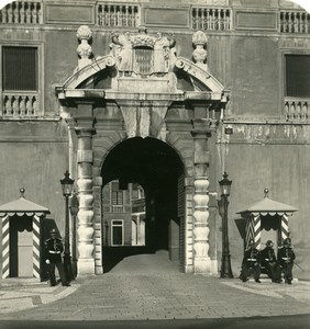 France Monaco Castle Entry & Guards Old Stereo Photo NPG 1905