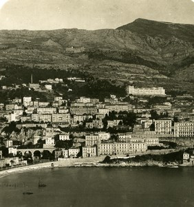 France Monaco Panorama towards Ste Devote Old Stereo Photo NPG 1905