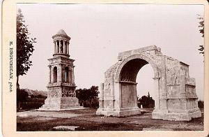 Antique Architecture Arch old Albumen Photo 1890