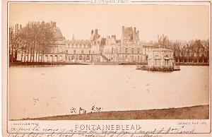 Chateau de Fontainebleau Castle old Albumen Photo 1882