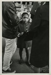 Sad Little Girl Looking up Chris Mackey Photo 1970