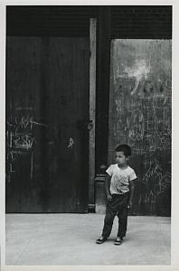 Lonely Boy by Graffiti Wall Chris Mackey Photo 1960's