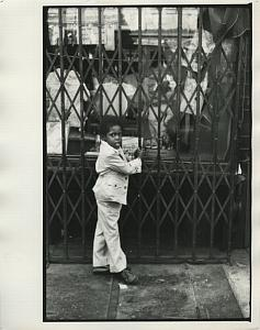 Black Boy by Toy Store Window Chris Mackey Photo 1970's
