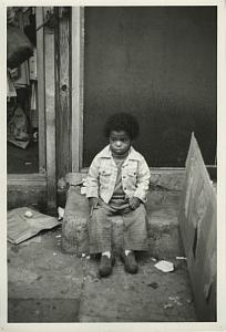 Sad Boy Sitting Chris Mackey Photo 1970's