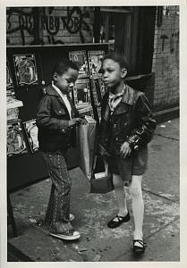 Black Boy & Girl by Toy Display Chris Mackey Photo 1972