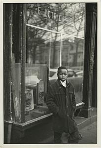 Black Boy by Electrical Shop Window Chris Mackey Photo