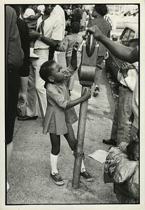 Black Girl & Parking Meter Chris Mackey Photo 1969