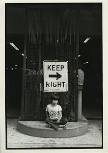 Asian Boy by Parking Sign Chris Mackey Photo 1979