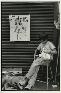Asian Boy selling Shoes Chris Mackey Photo 1980