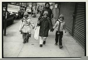 Black Kids in Lower East Side Street old Photo 1970's