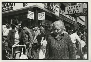 Busy Orchard Street Lower East Side old Photo 1970's