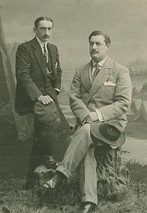 French Aviation Pioneer Legagneux & Agent in Russia Photo 1909