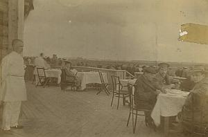 Moscow Airfield Café Terrace Russian Aviation old Photo 1912