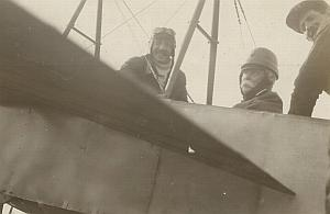Adolphe Pegoud & General Kaulbars Russian Aviation Bleriot Old Photo 1914