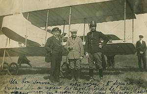 Aviation Russia Pilot Alphonse Poire old Photo 1914