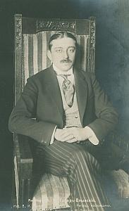 Polish Aviator Adam Haber-Wlynski Portrait old Russian Photo Postcard 1914