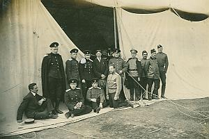 Henri Pequet & Russian Aviator Students old Photo 1914