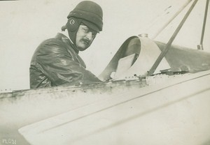 Andre Frey Aviation Pioneer Paris Rome Turin Race old Photo 1911