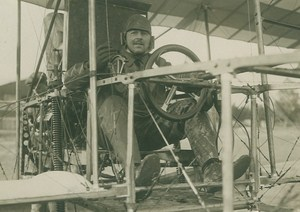 Ferdinand de Baeder Early Aviation Voisin Airplane old Photo 1910