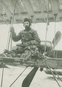 Lt Rene Chevreau Early Aviation Race Farman old Photo 1910