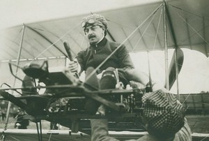 Marcel Loridan Michelin Cup Winner Farman Biplane Aviation old Photo 1911