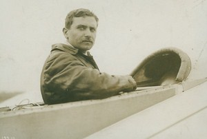 Leon Lemartin Last Photo before deadly crash Aviation old Photo 1911