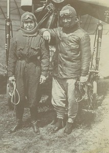 French Aviator Edmond Perreyon in Moscow Early Aviation old Photo 1912
