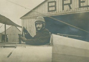 Aviator Lt Louis Chandenier Early French Aviation Breguet old Photo 1912
