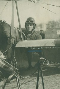 French Aviator Edouard Rousseau Deperdussin Early Aviation old Photo 1912