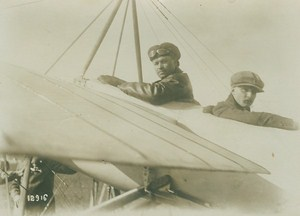 Andre Bidot and Passenger Crash Early Aviation old Photo 1914