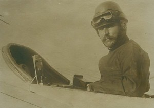 Aviator Isidore Herve killed in Morocco Early French Aviation old Photo 1914