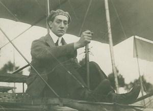 Tony Orta Crash Belgian Aviation Pioneer old Photo 1911