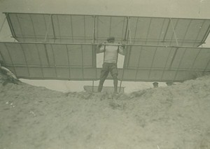 Charles Voisin Aviation Pioneer Gliding experiment old Photo 1907